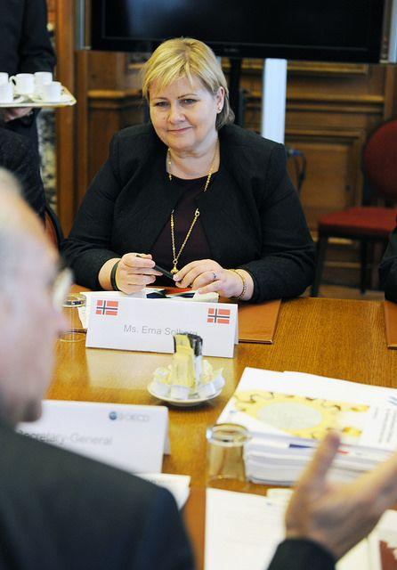 Erna Solberg, Prime Minister of Norway, at OECD. |