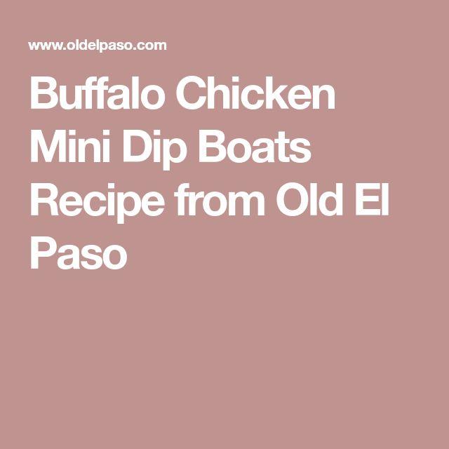Buffalo Chicken Mini Dip Boats Recipe from Old El Paso