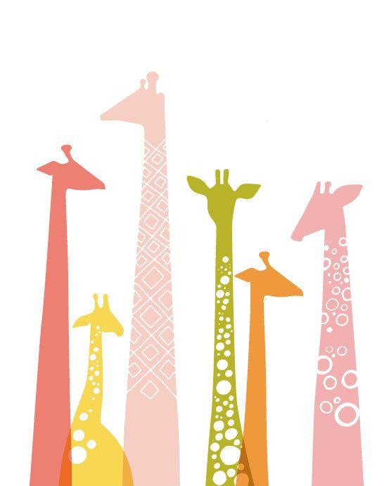 DIY giraffe art template. PDF.. $6.00, via Etsy.