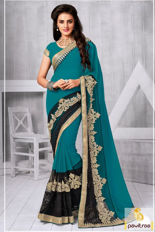 Mesmerizing dark cyan chiffon net party wear saree online shopping with great discount deals and offers. Latest fashion designer embroidery saree online shopping at best price in India. #partywearsaree, #partysaree, #designerpartysaree, #chiffonpartysaree, #designersaree, #embroiderypartysaree, #discountoffer, #pavitraafashion, #utsavfashion, #onlinesareeshopping, #printedpartysaree http://www.pavitraa.in/store/embroidery-saree/ callus:+91-7698234040