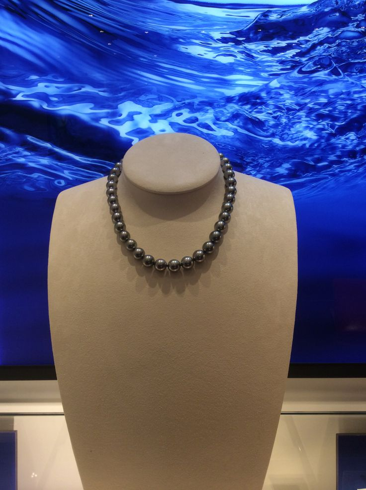 #Mikimoto 9mm black pearls - coming to Bakewell.
