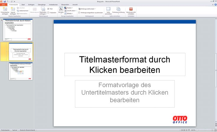 PowerPoint Präsentation – Masterlayout