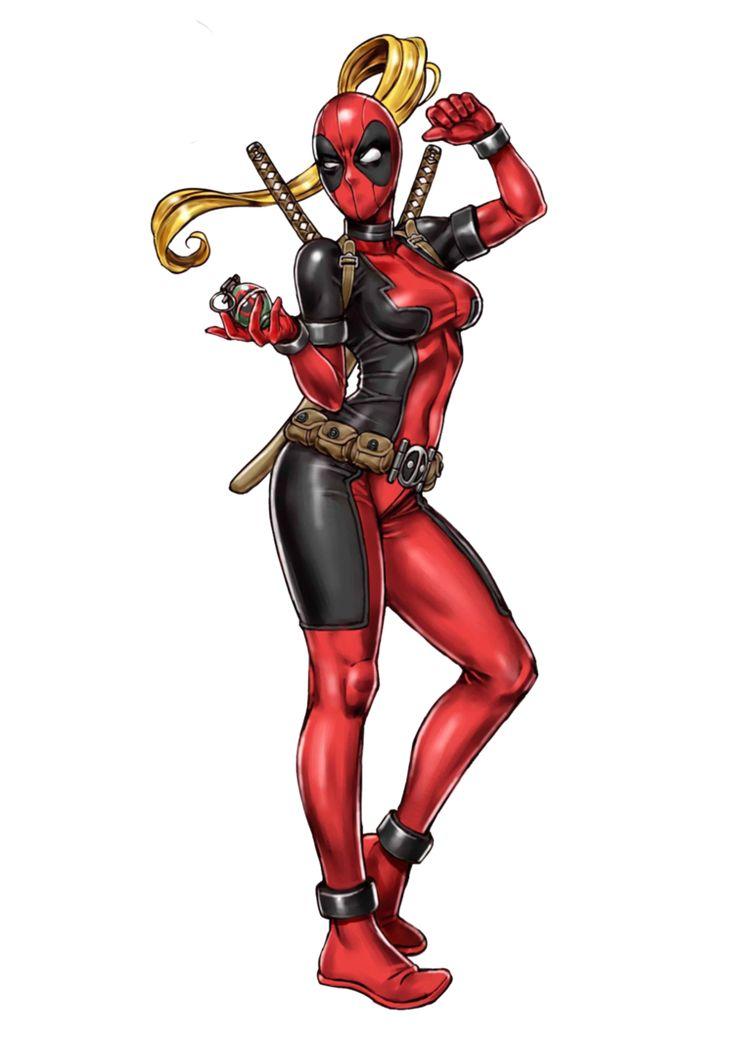 Lady Deadpool Render by bloomsama on DeviantArt