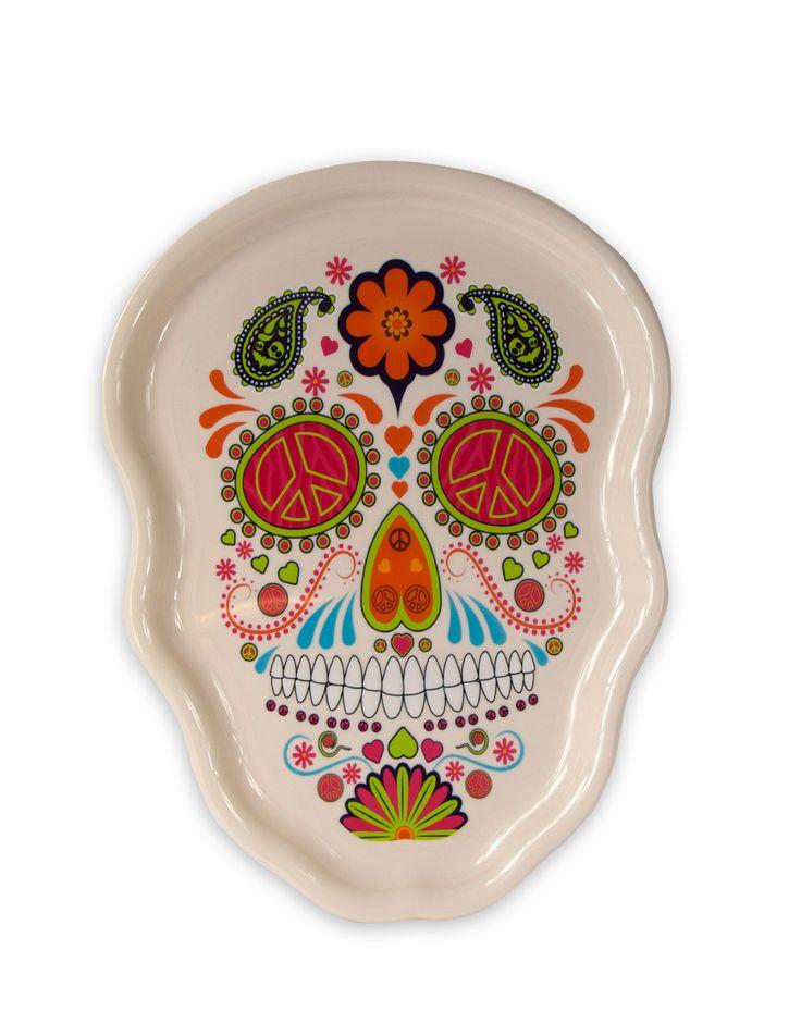White Sugar Skull Serving Tray – Spirit Halloween