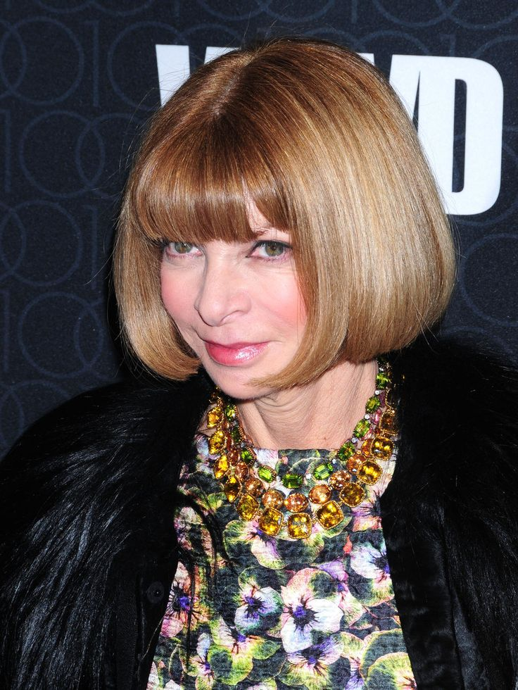 """Editor in chief, Anna Wintour has been a style icon for decades. From her crisp Chanel suits to her signature sunglasses she has singlehandley influenced fashion with her immaculate taste in everything beautiful. She has always supported up and coming young designers like Phillp Lim and Erin Fetherson. She has even influenced books and movies such as """"The Devil Wears Prada"""" and """"Ugly Betty."""""""