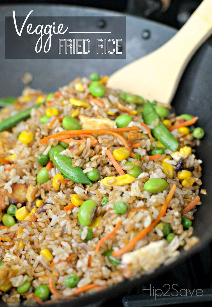 Homemade Veggie Fried Rice. If you have a meatless Monday coming up then this is an excellent main dish recipe. Discover more recipes, coupons and crafts at Hip2Save.com.