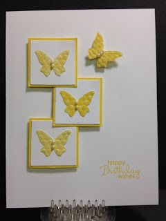 My Creative Corner!: 20 Minute Cards; butterfly sizzlet; daffodil delight; could also use melon mambo or pumpkin pie