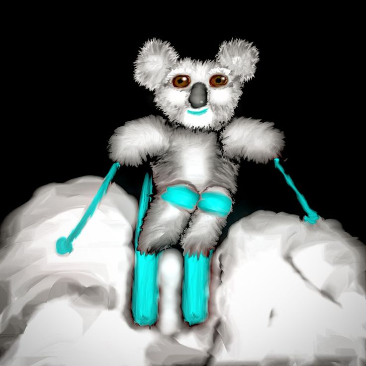 Koala mogul skier