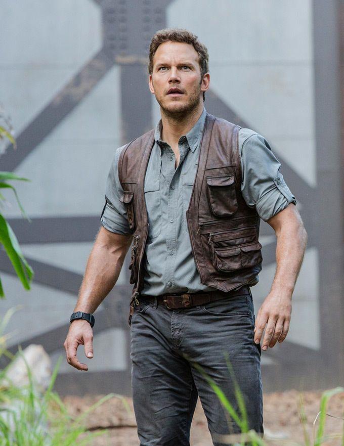 Leo S Costume Jurassic World Chris Pratt Owen Grady Real Leather Vest All Sizes Available E Jurassic World Chris Pratt Owen Jurassic World Jurassic World