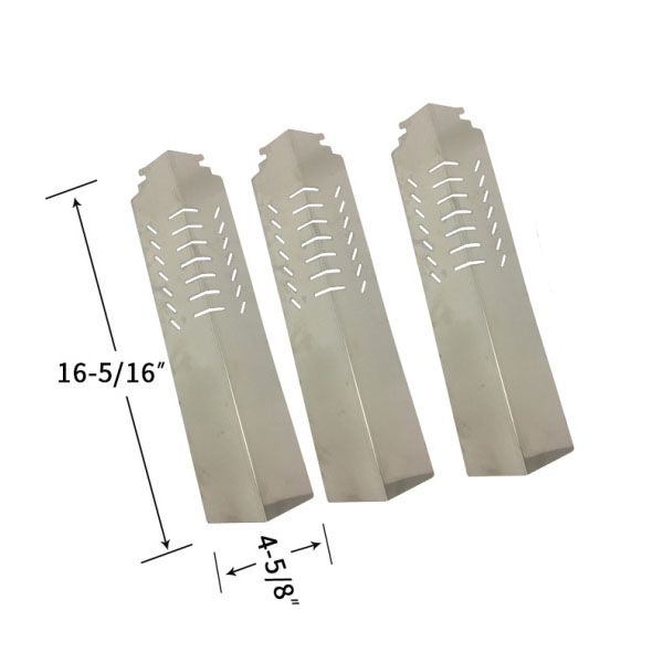 REPLACEMENT 3 PACK STAINLESS STEEL HEAT SHIELD FOR CUISINART, CENTRO GAS GRILL MODELS Fits Compatible Cuisinart Models : 85-3030-8, 85-3031-6, C550S