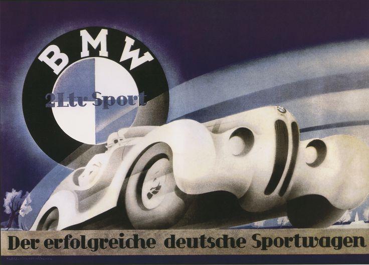 vintage deutshe kabaret poster | BMW 328 Poster. (source: BMW)