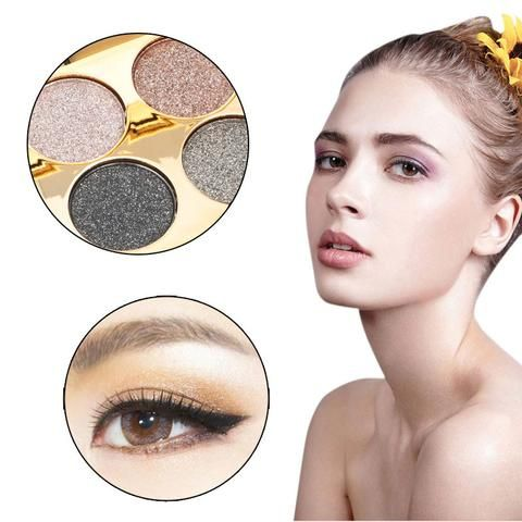 Makeup Eyeshadow Palette Naked Glitter Eyeshadow Smoky Eye Shadow maquiagem paleta de sombra fosca Shining Eye Shadow 4 Colors
