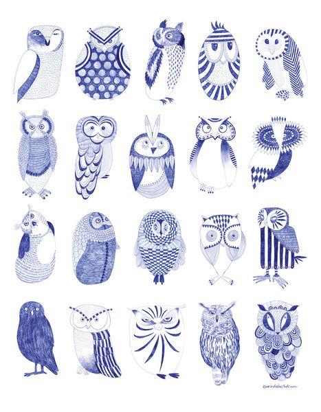 Karin Lindeskov Andersen- Owlstreet Art Print