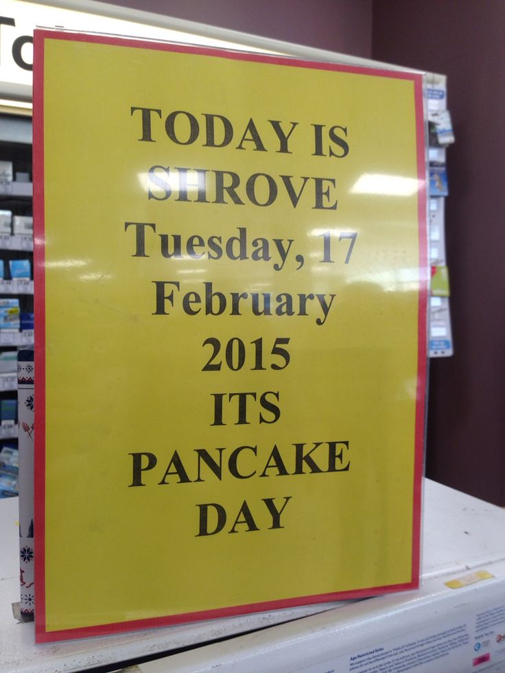 Just in case I didn't know from all the pancake pics online - tesco had a helpful sign in the petrol station.