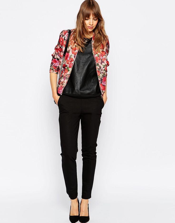 image 4 vila floral bomber jacket clothes shoes pinterest fleuri vestes bomber et vestes. Black Bedroom Furniture Sets. Home Design Ideas