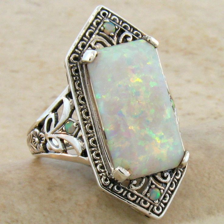 antique opal ring