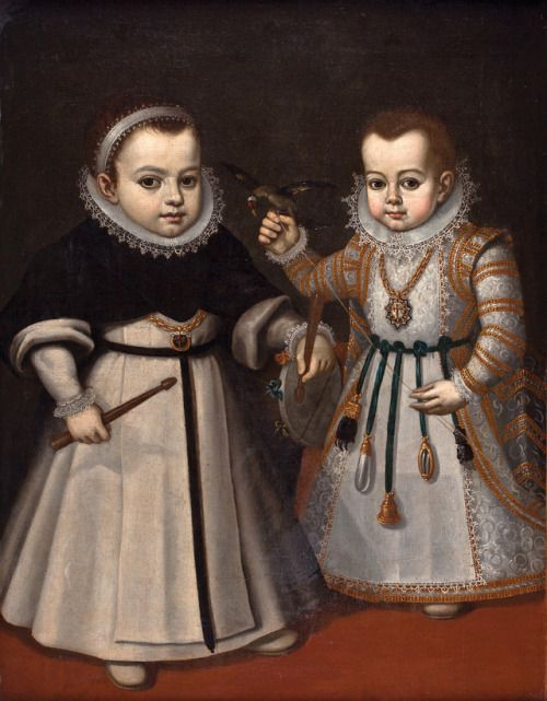 1600 Circle of Juan Pantoja De La Cruz - Portrait of two children