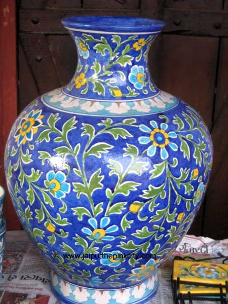India, Jaipur : Blue Pottery
