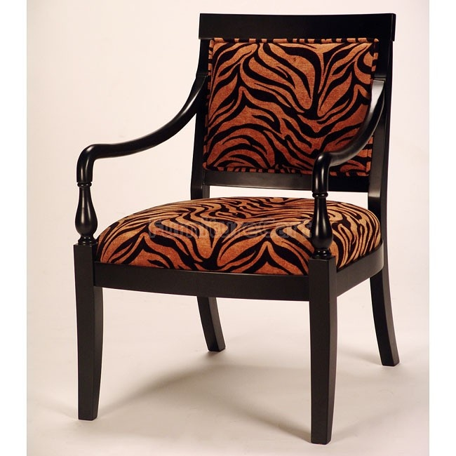 Missoni Style Print Accent Chair: Animal Print Accent Chair