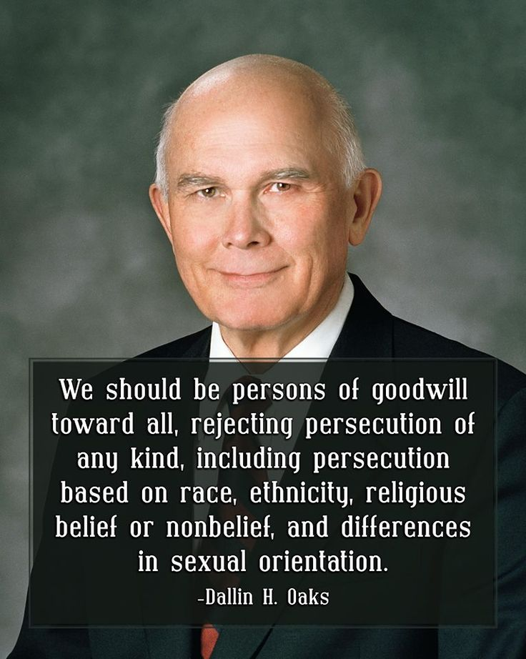 """""""We should all follow the gospel teachings to love our neighbor and avoid contention. Followers of Christ should be examples of civility. Though we may disagree, we should not be disagreeable.  In any event, we should be persons of goodwill toward all, rejecting persecution of any kind."""" From #ElderOaks' pinterest.com/pin/24066179231078616 inspiring #LDSconf facebook.com/223271487682878 message lds.org/general-conference/2014/10/loving-others-and-living-with-differences. #passiton"""