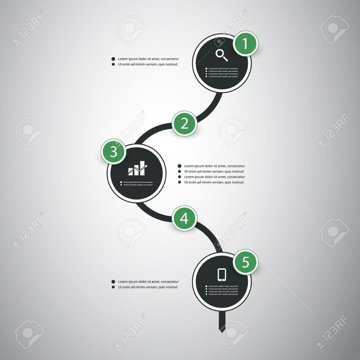 Infographic Concept - Flow Chart Design And Timeline Royalty Free Cliparts, Vectors, And Stock Illustration. Image 28510662.
