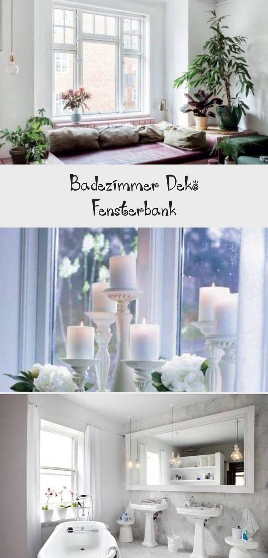 Badezimmer Fensterbank Deko