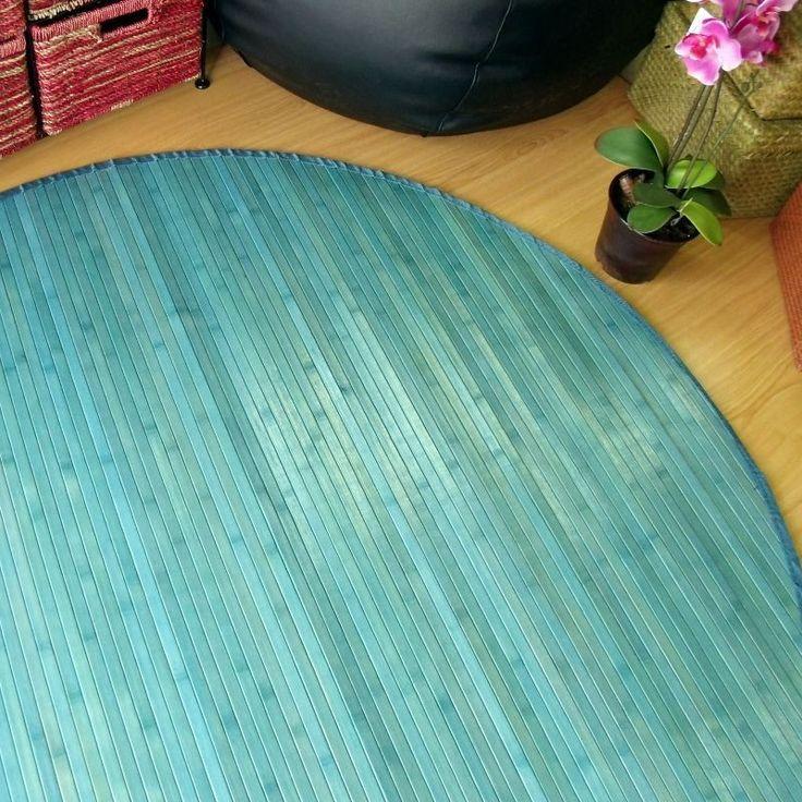 Lo redondo es intemporal y m s si la alfombra es de bamb lavable bonita y resistente - Alfombras bambu colores ...