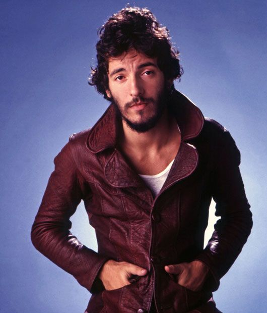 A portrait of Bruce Springsteen, circa 1985