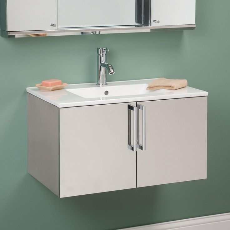 Picture Gallery For Website  Crosstown Stainless Steel Wall Hung Vanity Polished