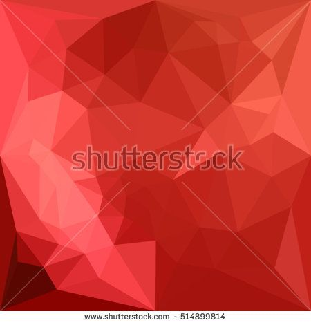 Low polygon style illustration of a tomato red abstract geometric background. #abstractbackground #lowpolygon #illustration