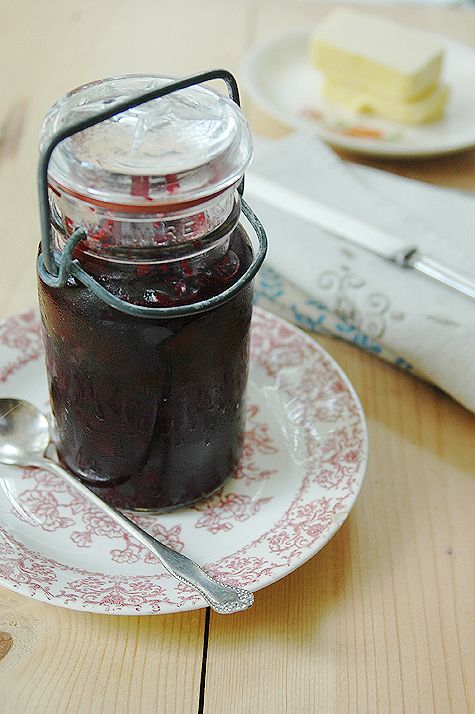 Lacto-Fermented Blueberry-Basil Preserves (honey-sweetened) --  I think I'll make this with double the basil and in a Pickl-it so I can omit the whey.  This would be so good on roast chicken or a steak!