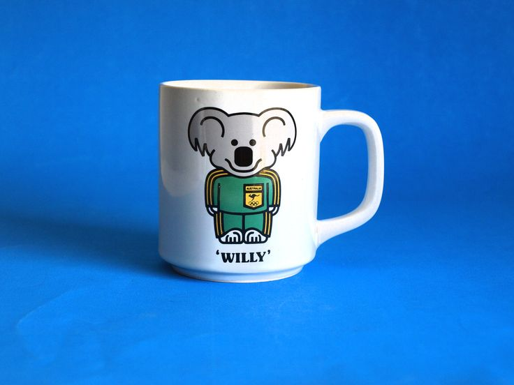 1984 Olympic Games Los Angeles USA Willy Koala Mug - Vintage Willy 1 Mascot Australia Souvenir Collectable Cup - Westminster by FunkyKoala on Etsy