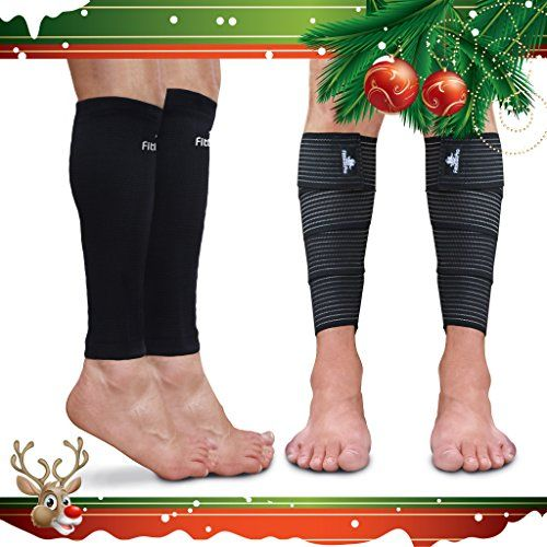 Fittest Pro Calf Sleeve Package (Pack of 4) - Calf Compression Sleeve (1 Pair) & Calf Wrap (1 Pair) - Unisex Leg Compression Socks for Shin Splint, Pain Relief & True Graduated Compression (L - XL) -- Be sure to check out this awesome product.