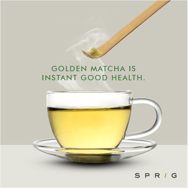 Out with the teabags, in with Sprig's Golden Matcha, a green tea powder that makes use of the whole leaf so that you don't miss out on the antioxidants that are normally lost when you throw out the leaves. Just top it with some warm water and enjoy a cup of health. https://goo.gl/V0abxk #GoldenMatcha #Matcha #GreenTea #SprigGourmet #Healthy #Matchalovers #GreenTeaLovers #OnlineOrder