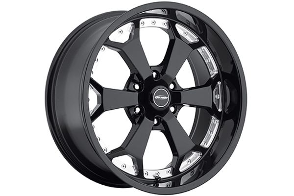 "Pro Comp 8180 Adrenaline Black and Machined Wheels - Best Price on ProComp Adrenaline 8180 20"" Black and Chrome Rims"
