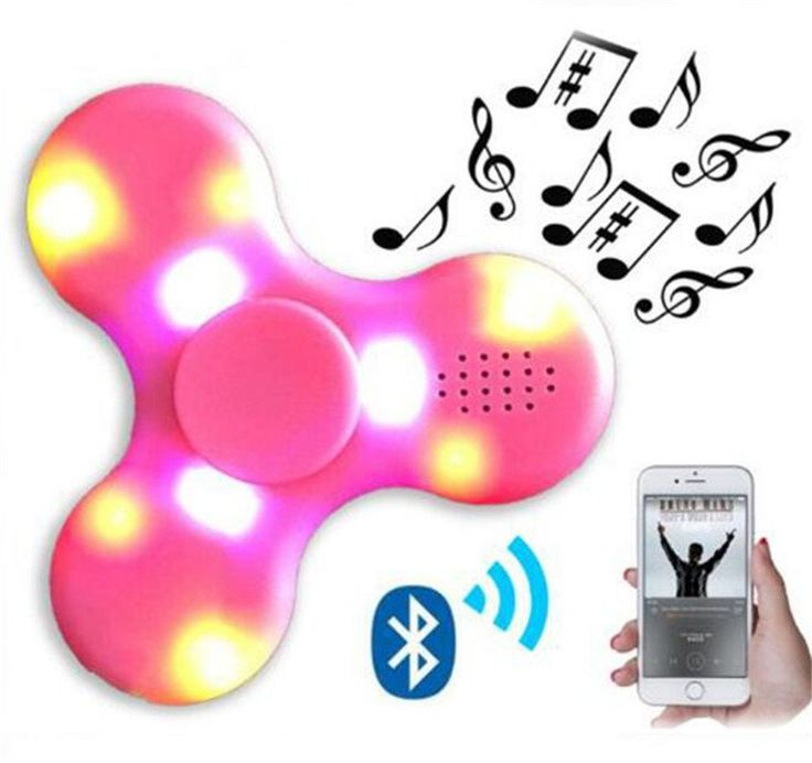 LED Bluetooth wireless music Fidget EDC spinner
