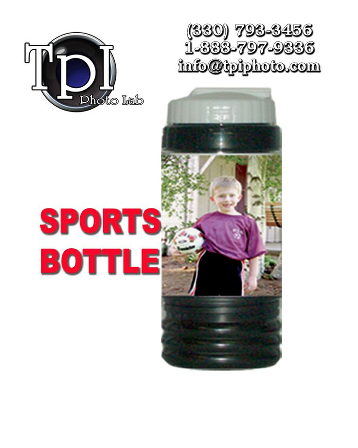 Personalized drink bottle with a handy snack compartment.  tpiphoto.com