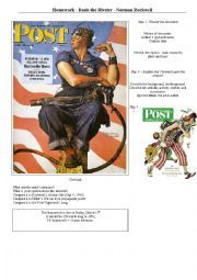 Rosie the Riverter by Norman Rockwell (histoire des arts)