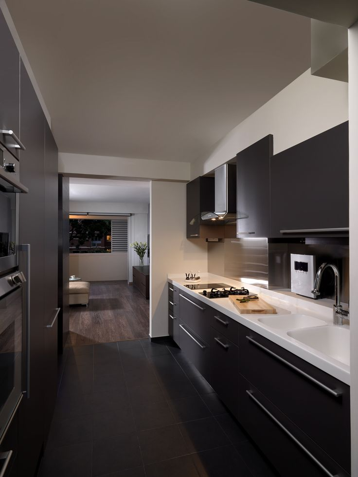 Kitchen home decor singapore kitchen pinterest for Cocinas minimalistas integradas