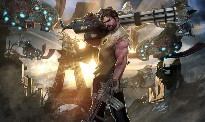 Экшен игра Serious Sam VR: The Last Hope в раннем доступе