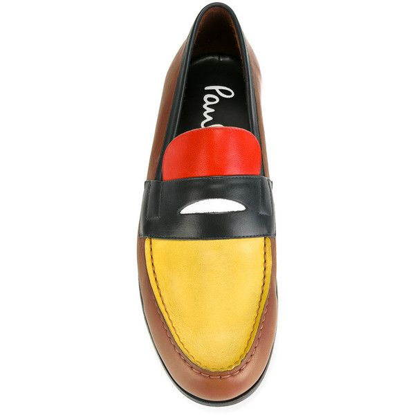 Paul Smith block panel loafers ($417) ❤ liked on Polyvore featuring men's fashion, men's shoes, men's loafers, mens brown shoes, mens leather shoes, mens brown loafer shoes, mens brown leather shoes and paul smith mens shoes