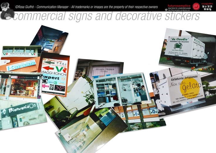 Commercial signs and decorative stickers