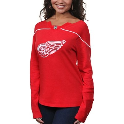 Reebok Detroit Red Wings Womens Fan Diva Jersey Shirt - Red   #Fanatics