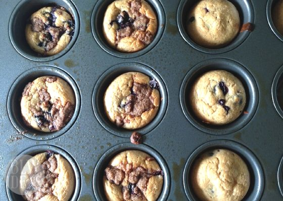 These moist and delicious blueberry muffins have no added sugar! Your baby will love them, and you might too!