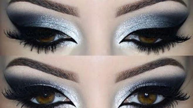 Işıltılı Gri Dumanlı Göz Makyajı Tekniği - Özel günler yada gece için uygulayabileceğiniz ışıltılı gri dumanlı göz makyajı yapımı (Makeup Grafite Video)