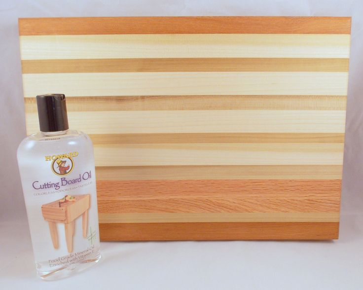 Handcrafted Wooden Cutting Board Assorted Woods Plus Cutting Board Oil #5