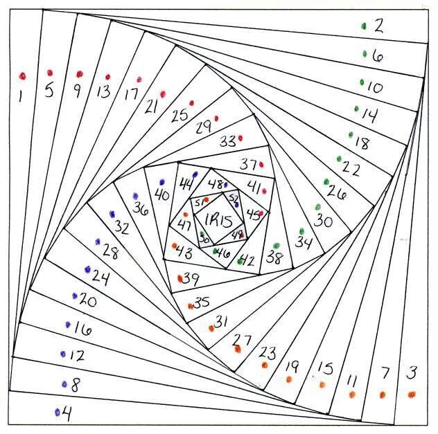 Paper-piecing-Vortex pattern
