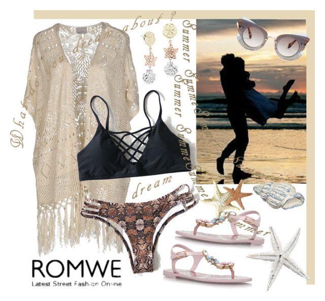 """ROMWE - Bikini - Summer in Winter"" by giovanina-001 ❤ liked on Polyvore featuring Vero Moda, Dolce&Gabbana and Miu Miu"