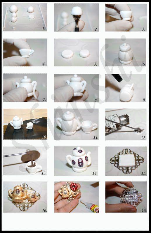 Make Mini Clay Tea Pots