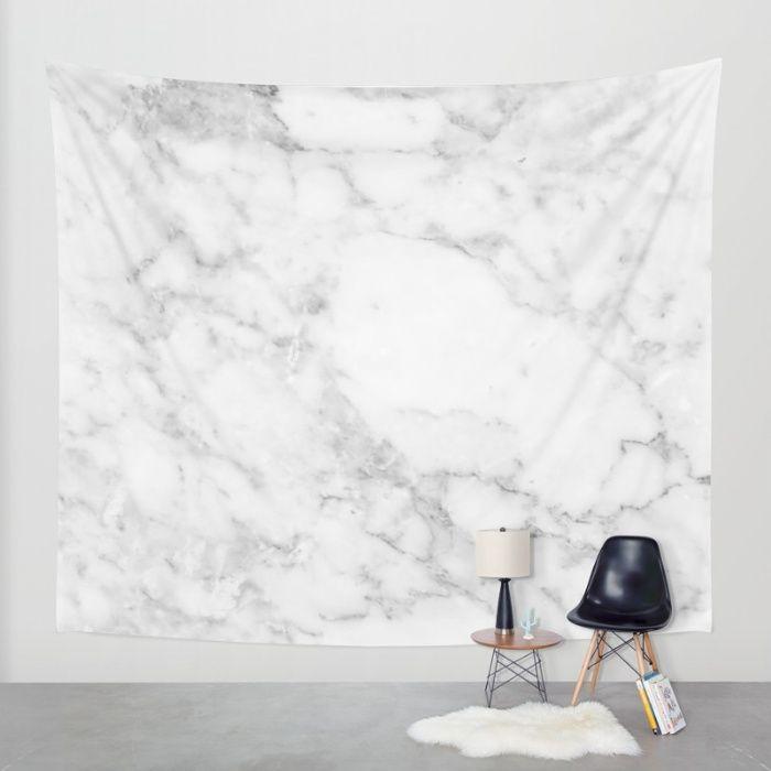 Marble white and grey Wall Tapestry by Kaeting Kikii | Society6